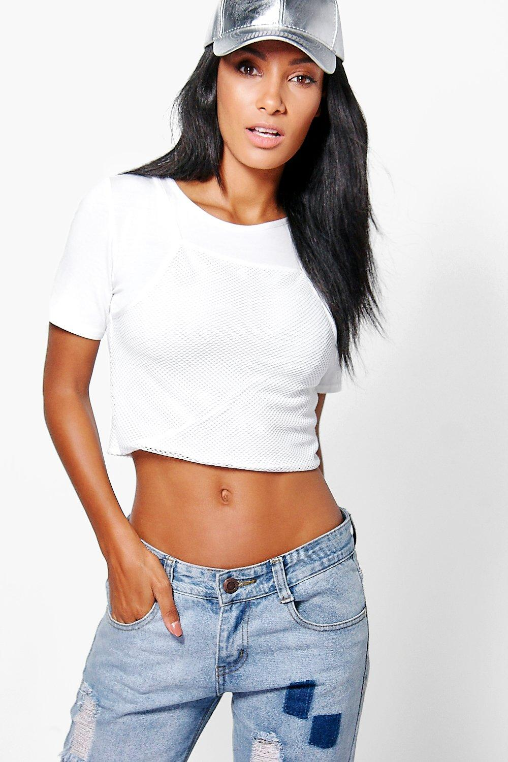Grace Two In One Mesh Crop Top