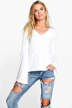 Laura Wide Sleeve Jersey Top
