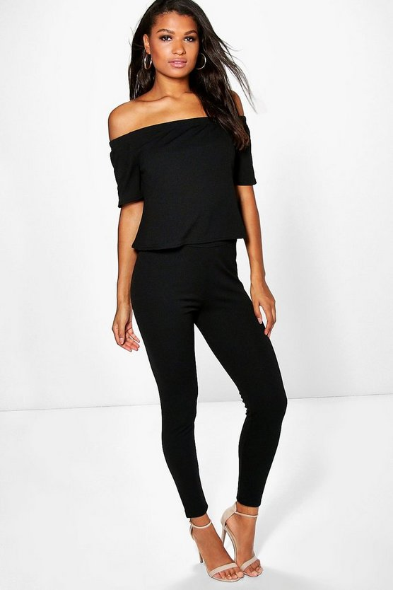Off The Shoulder Top + Skinny Trouser