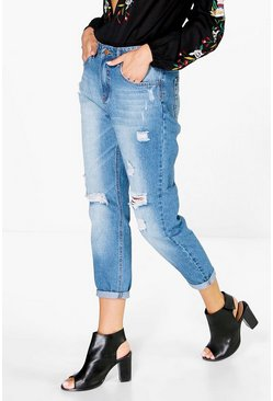 Cara Distressed Boyfriend Jeans