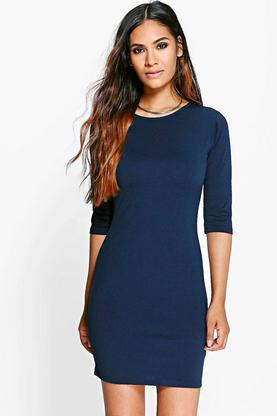 Amy 3/4 Sleeve Bodycon Dress