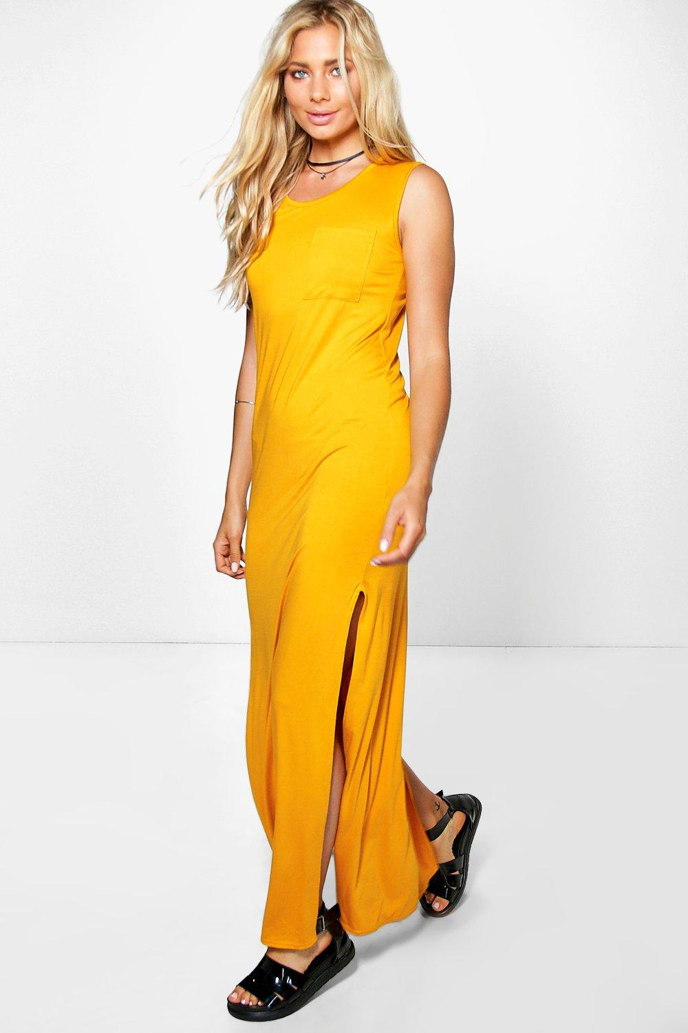 Ada Split Side Pocket Slouch Maxi Dress