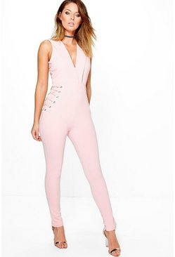 Boutique Anni Lace Up Side Detail Jumpsuit