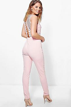 Boutique Jen Statement Back Skinny Leg Jumpsuit
