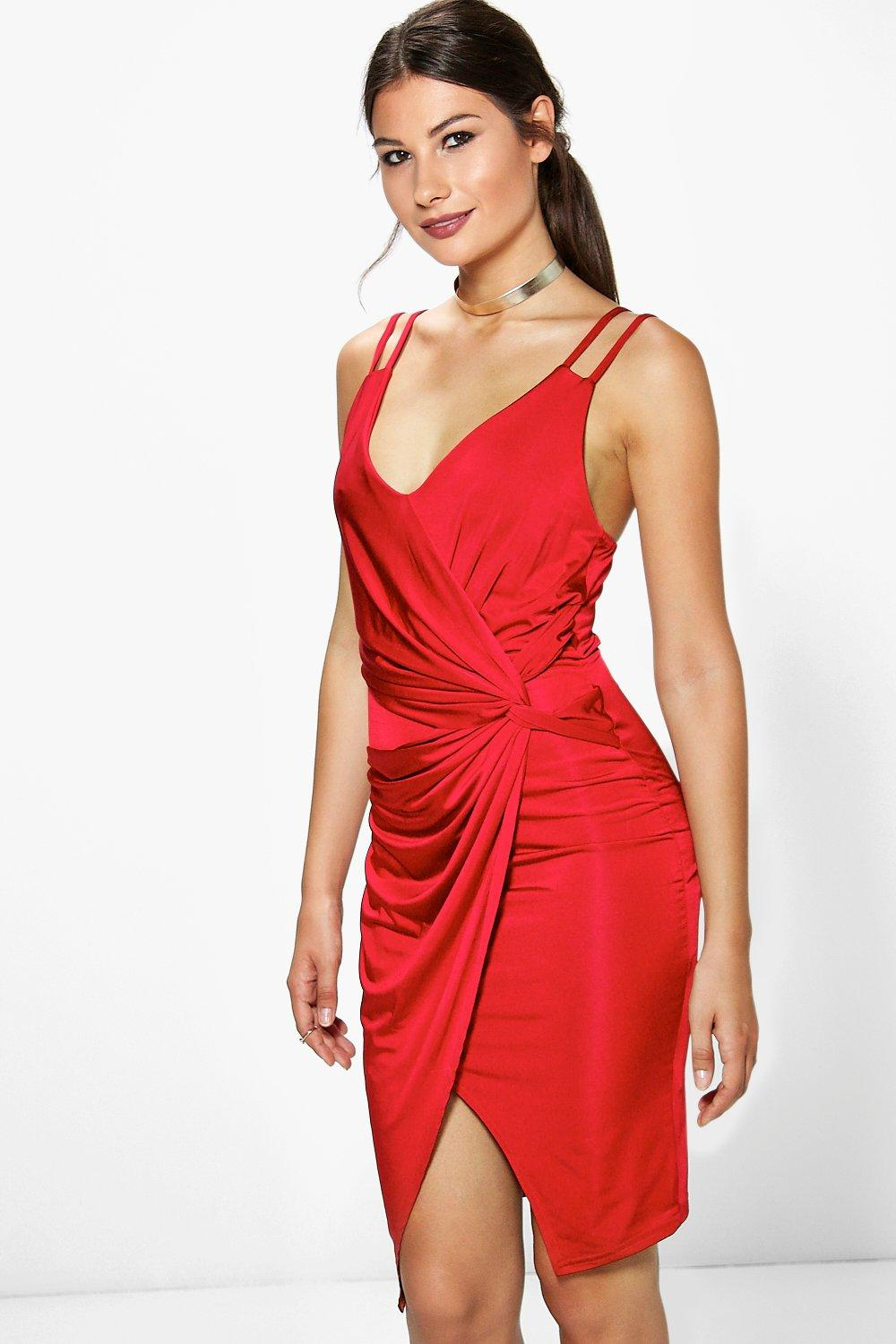 Jessica Slinky Drape Midi Dress
