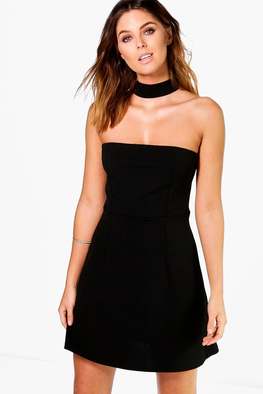 Maddison Choker A-Line Shift Dress