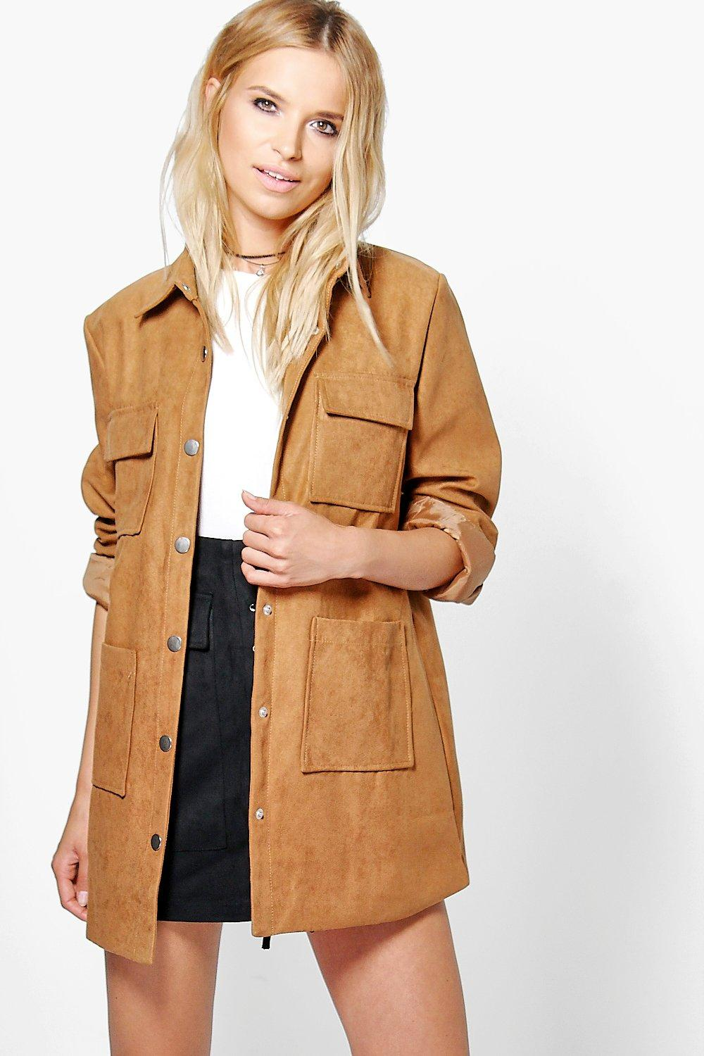 Jessica Suedette Utility Jacket