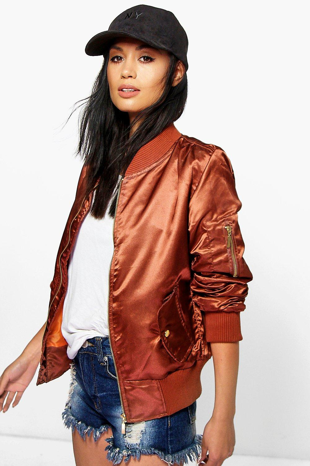 Silky MA1 Bomber Jacket - brown