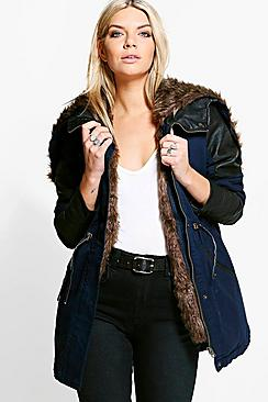 Natalie Faux Fur Lined Parka