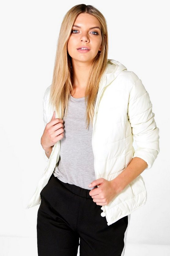 Lois Wet Look Lightweight Bubble Coat