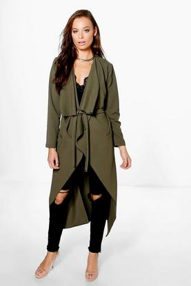 Laila Shawl Collar Belted Duster