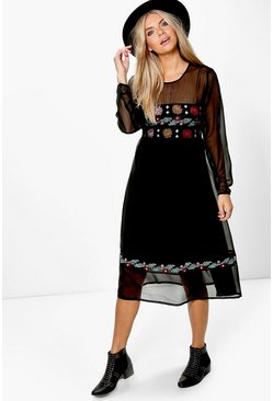 Boutique Elvira Embroidered Midi Dress