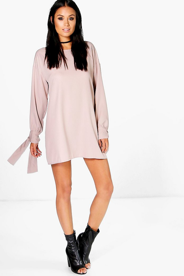 Marsa Tie Sleeve Shift Dress