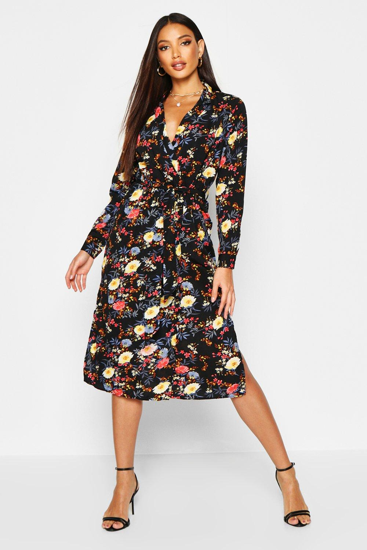 Amada Floral Printed Maxi Shirt Dress | Boohoo