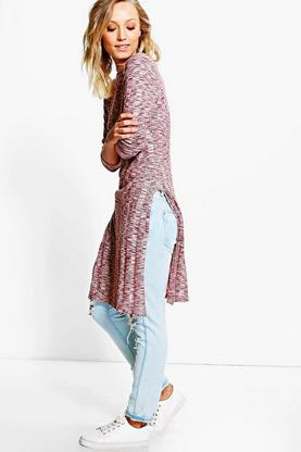 Maisie Side Split Rib Knit Tunic
