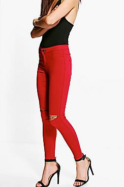 Ally High Rise Berry Tube Jeans