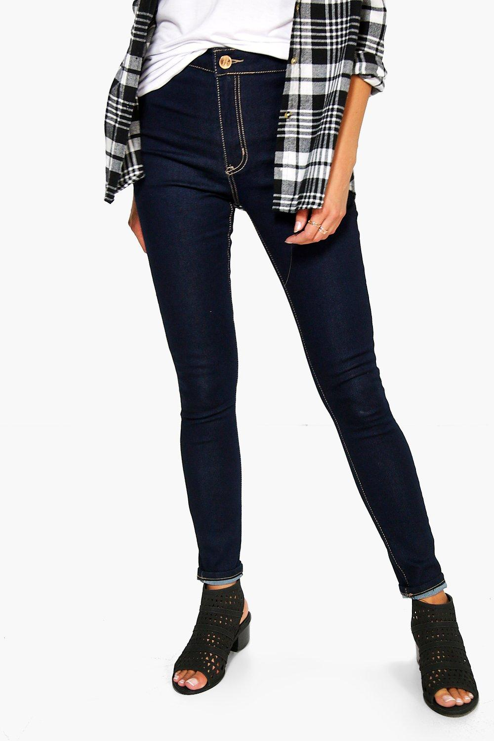 Helen High Rise Indigo Tube Jeans