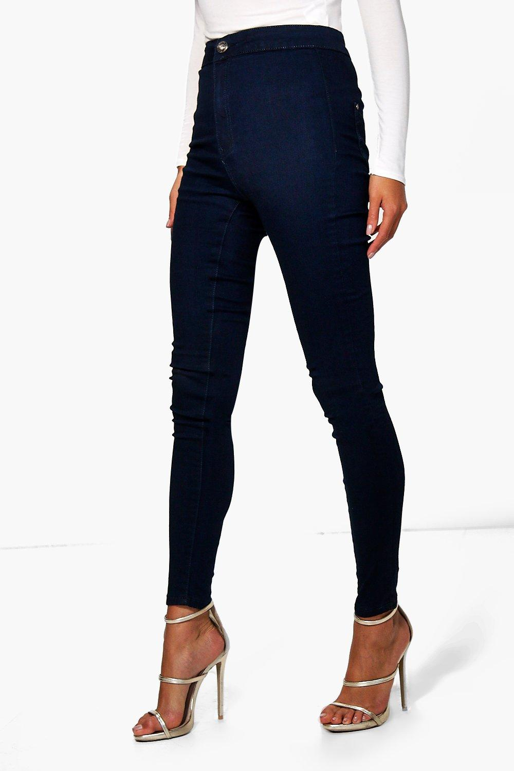 Navy High Rise Tube Jeans navy