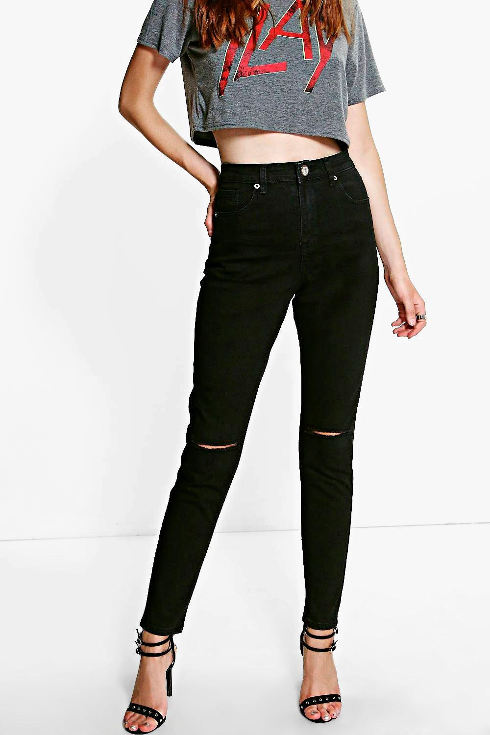 Cora Ripped Knee Skinny Jeans