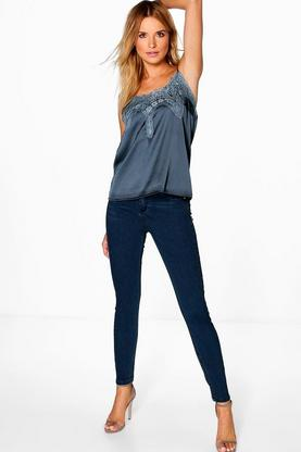 Belle High Waist Skinny Tube Jeans