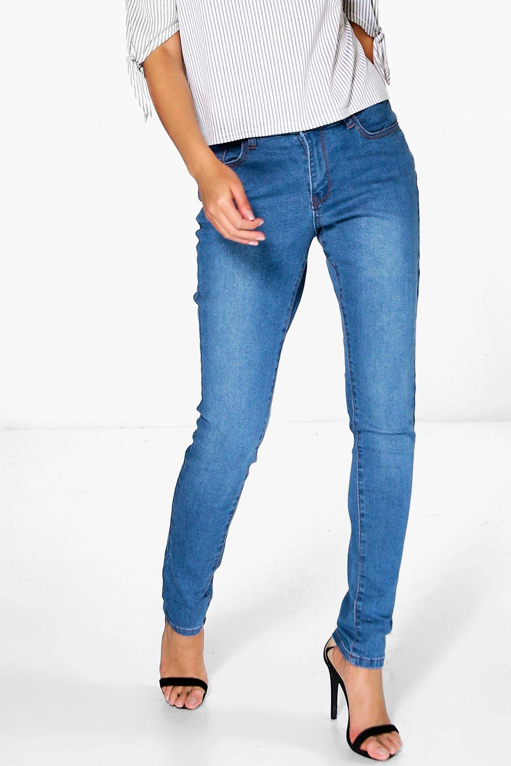 Jen High Rise Mid Wash Blue Skinny Jeans