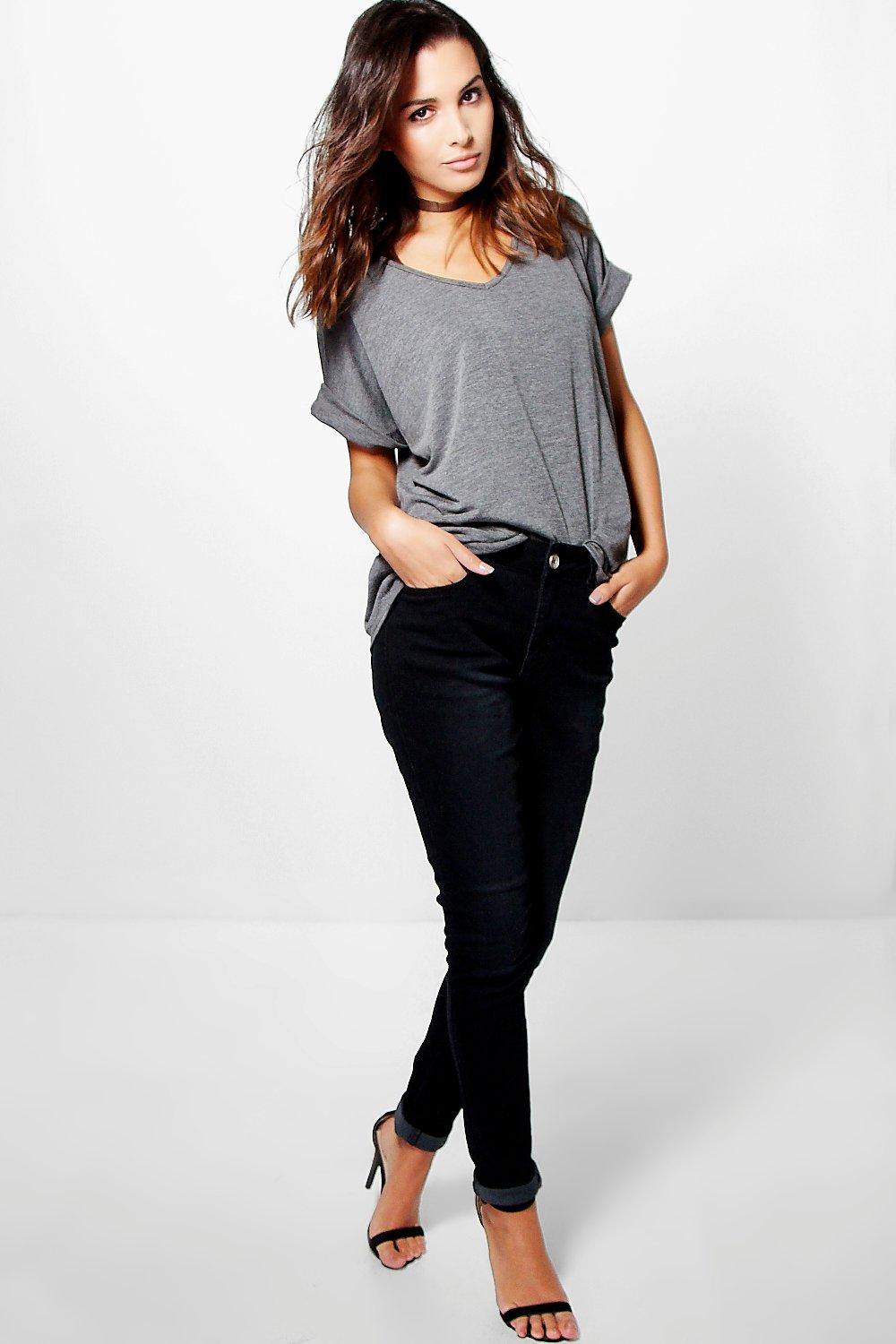 Emma High Rise Black Skinny Jeans