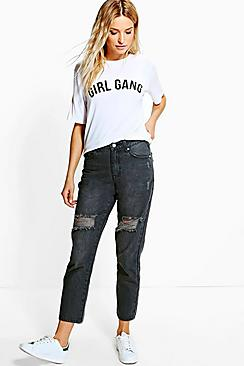 Ruby Distressed Boyfriend Jeans