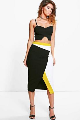 Becca Colour Block Midi Skirt Co-ord