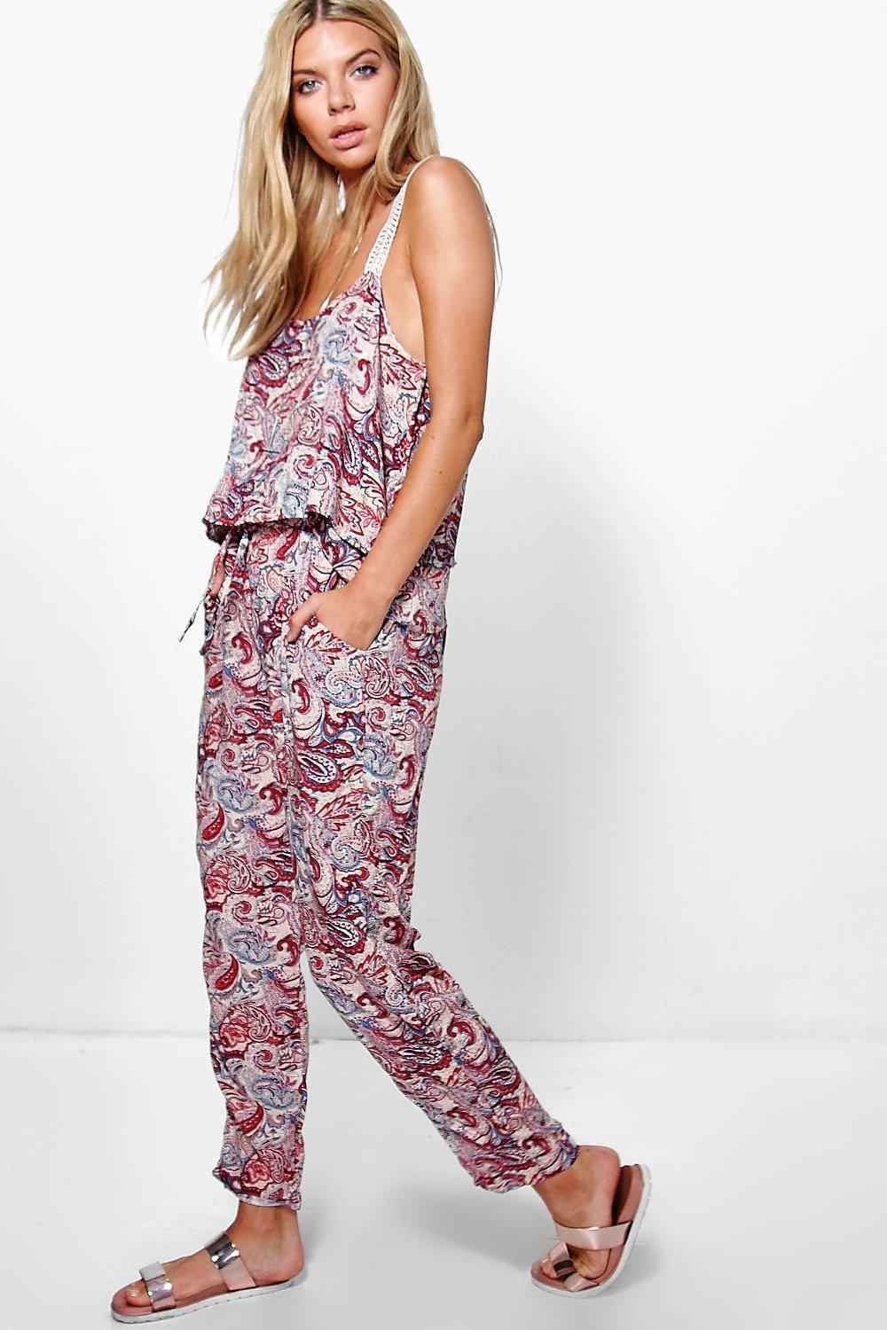Grace Printed Woven Cami + Trouser Co-ord Set