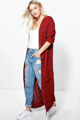 Eloise Maxi Cable Cardigan
