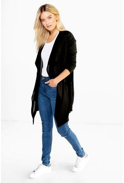 Evie Midi Length Waterfall Cardigan