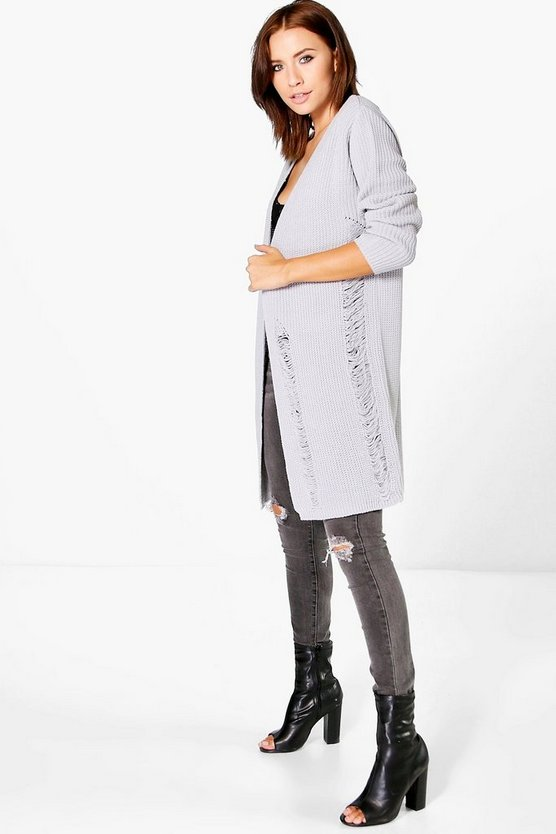 Olivia Distressed Boyfriend Cardigan