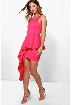 Bonnie Asymmetric Peplum Dress