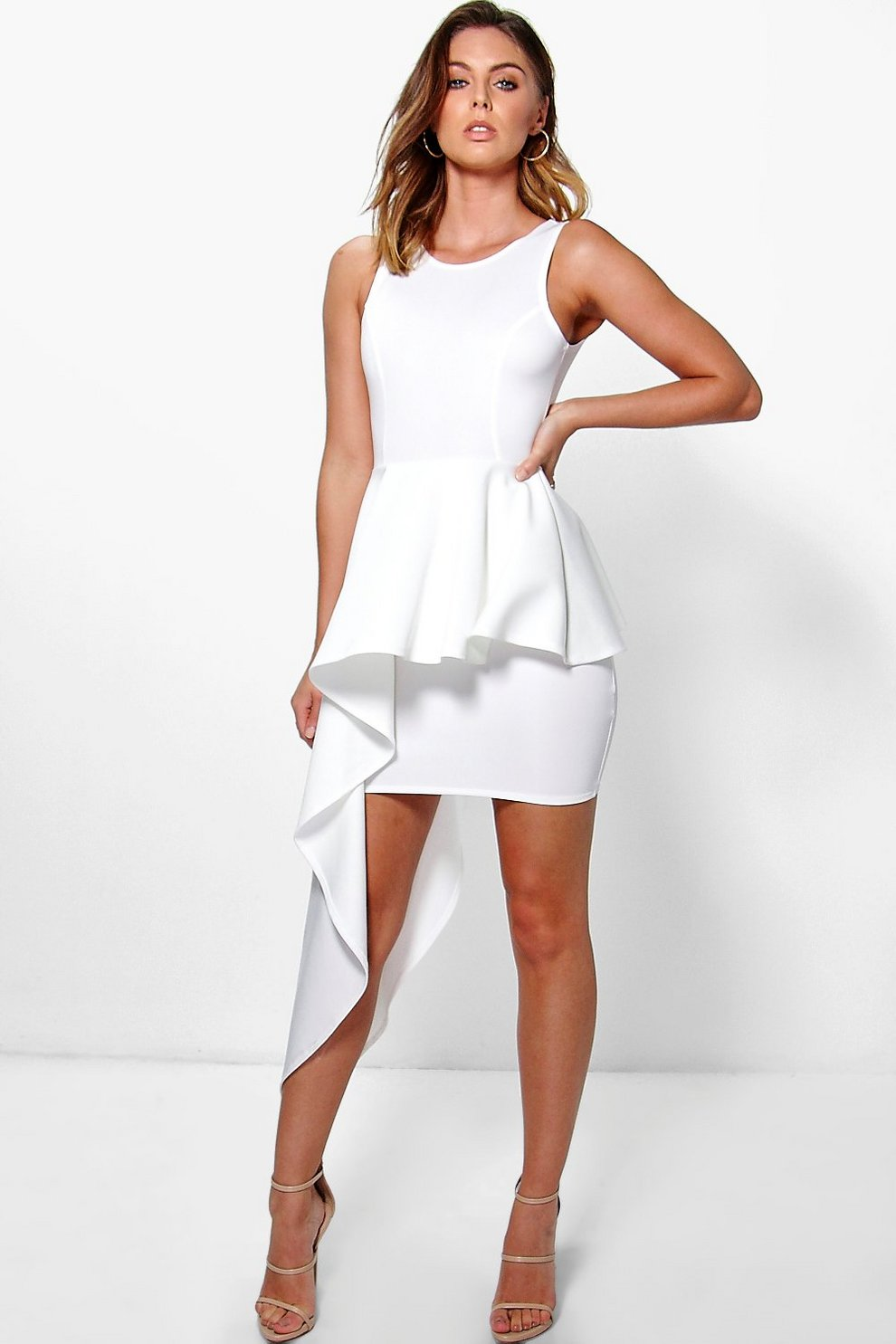 Asymmetrical Cream Dresses