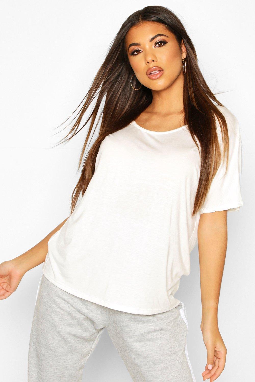 Womens Übergroßes Basic-T-Shirt - ivory - 32, Ivory - Boohoo.com