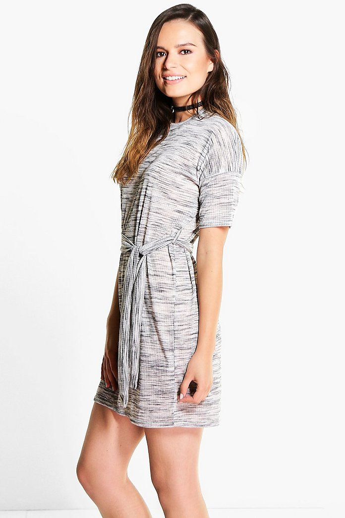 Sally Slub Cap Sleeved T-Shirt Dress