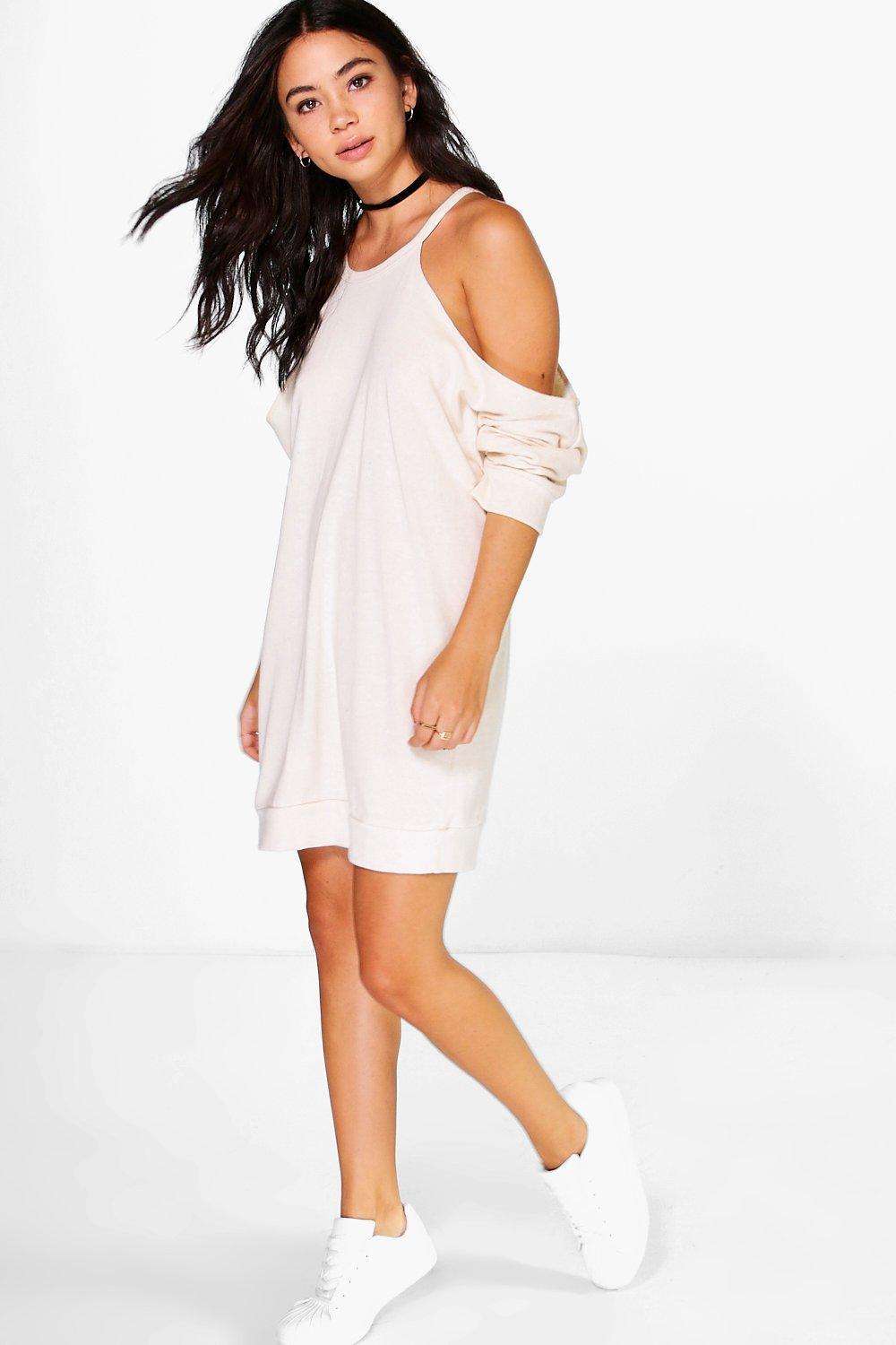 Amber Cold Shoulder Knit Sweet Dress