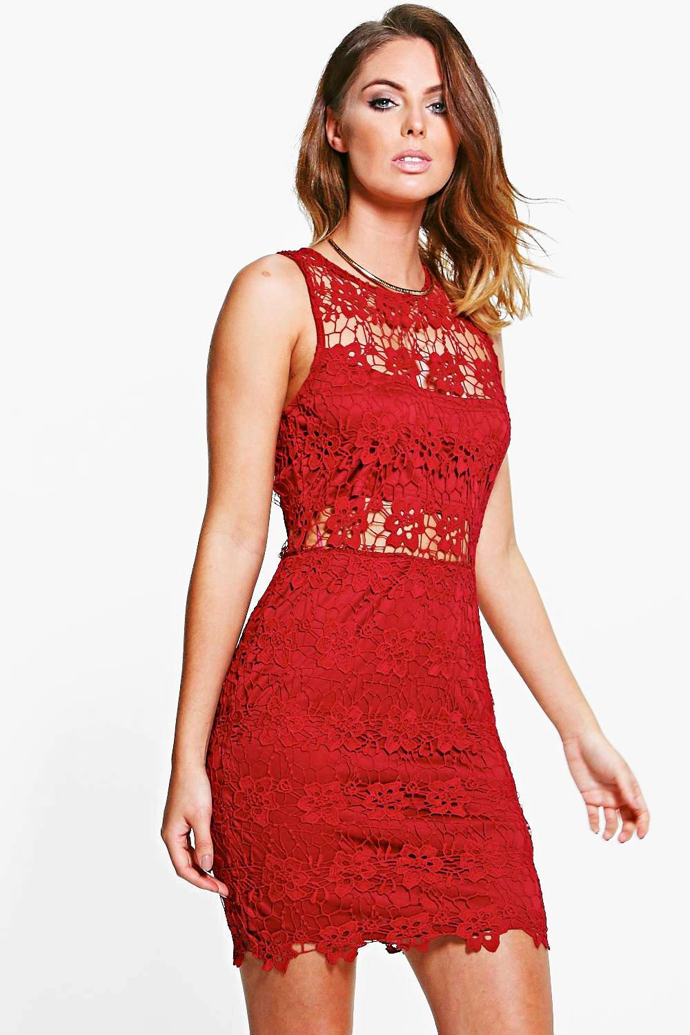 Boutique Gia Lace Sleeveless Bodycon Dress