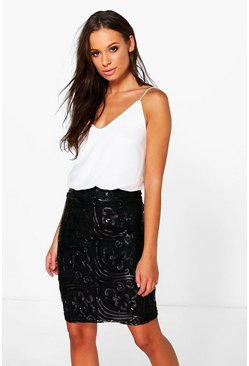 Boutique Ellie Sequin Print Skirt 2 in 1 Dress