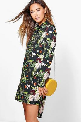 Hollie Floral Shirt Dress