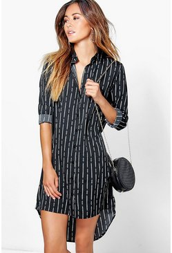 Maisie Monochrome Printed Shirt Dress