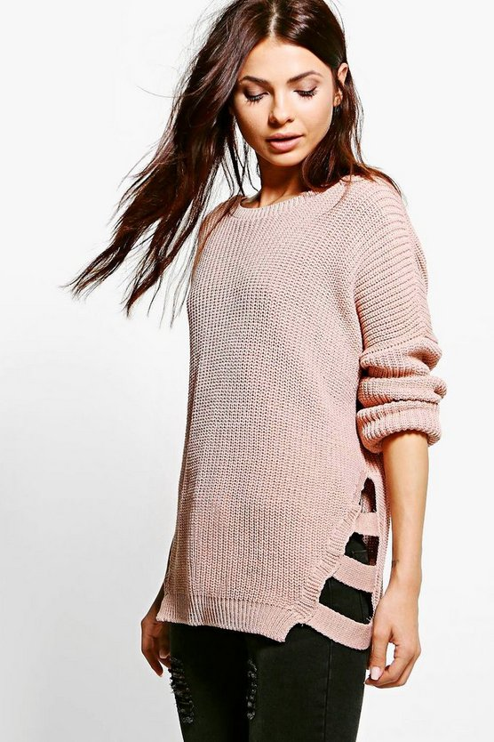 Erin Oversized Side Strap Detail Jumper