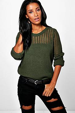 Layla Open Knit Crew Neck Jumper