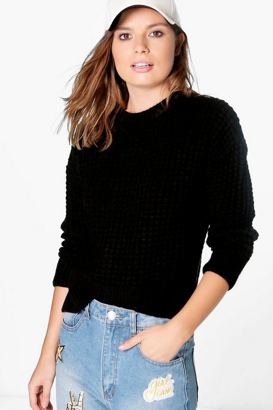 Maisie Soft Knit Waffle Knit Jumper