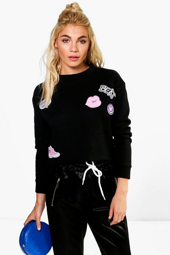 Norma Badged Crop Sweatshirt