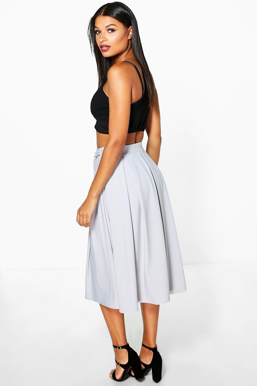 boohoo womens aalia belted ribbed midi skirt ebay