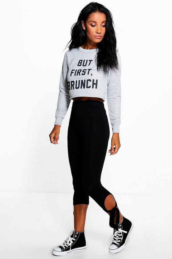 Louella Tie Ankle Jersey Leggings