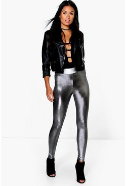 Cate Metallic High Waist Leggings