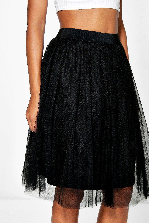 boohoo womens boutique amara knee length tulle skirt ebay