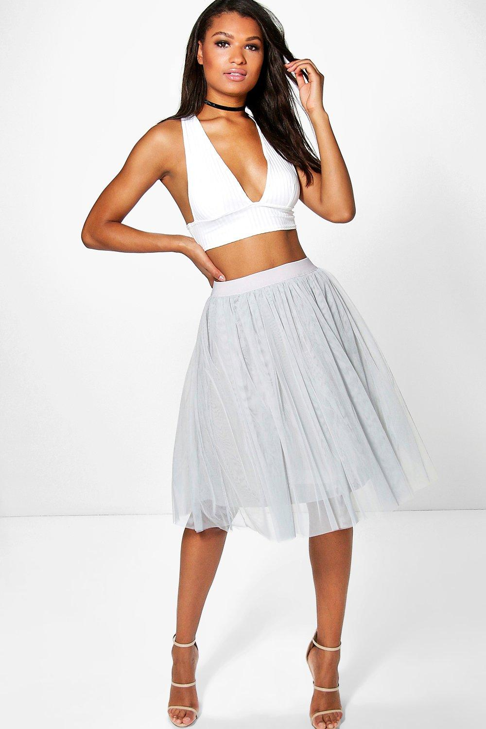 Boutique Amara Knee Length Tulle Skirt